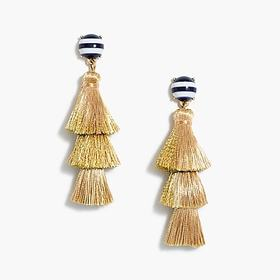 J. Crew Factory Striped and solid tassel earrings