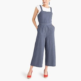 J. Crew Factory Chambray cross-back jumpsuit in st