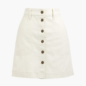 J. Crew Factory Canvas button-front skirt