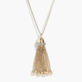J. Crew Factory Pearl and tassel necklace