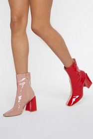 Nasty Gal Womens Red Square Me the Details Two-Ton