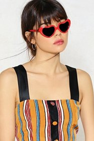 Nasty Gal Womens Red Gimme Your Heart Shades
