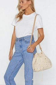 Nasty Gal Womens Natural WANT Drawstrings Attached