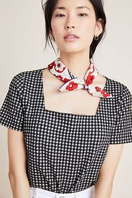 Anthropologie Summer Gingham Top