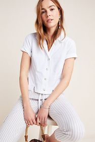 Anthropologie Caila Cropped Buttondown