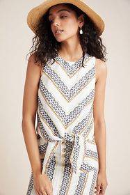Anthropologie Quincy Eyelet Sleeveless Blouse