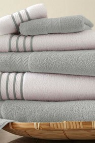 Modern Threads Quick Dry Stripe 6-Piece Towel Set