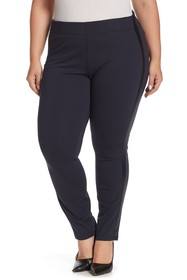NYDJ Contrast Trim Ponte Pants (Plus Size)