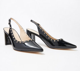 Marc Fisher Sling-Back Pumps with Studs - Carmon -
