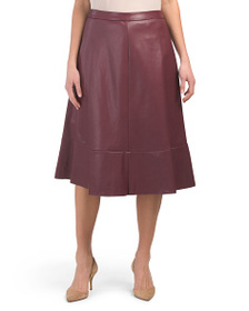 VINCE CAMUTO Back Zip Faux Leather Skirt