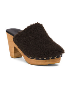 FREE PEOPLE Cabin Fever Faux Fur Clogs