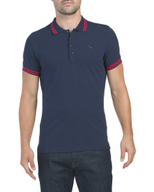 DIESEL Randy Short Sleeve Polo With Tipping