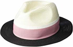 Calvin Klein Panama Hat with Pop Color Band