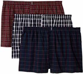 Jockey Classic Wovens Full Cut Boxer 3-Pack