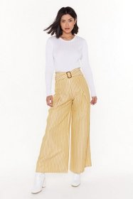 Nasty Gal Womens Mustard Line to Move On Striped W
