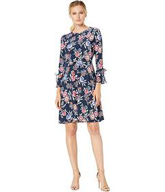 Nine West Fit & Flare Dress w\u002F Bell Sleeve &
