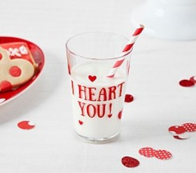 "Pottery Barn ""I Heart You"" Tumbler"
