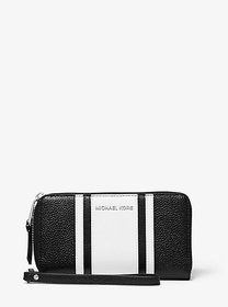 Michael Kors Large Striped Pebbled Leather Smartph