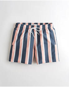 Hollister Guard Short 5 in., NAVY STRIPE
