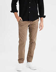 American Eagle AE Ne(X)t Level Slim Straight Khaki