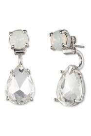 Marchesa Crystal Pear-Cut Drop Earrings