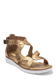 Sofft Malana Metallic Leather Sport Wedge Sandal