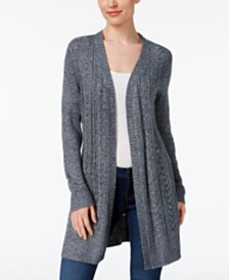 Karen Scott Turbo Duster Cardigan, Created for Mac