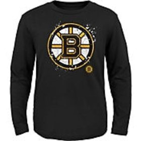 NHL Youth Boston Bruins Deconstructed Black Long S