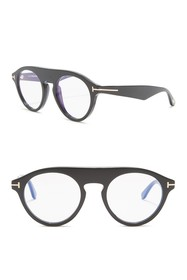 Tom Ford Christopher 49mm Round Modified Aviator S