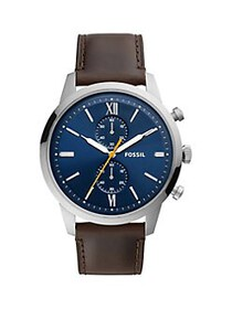 Fossil Townsman Chronograph Leather Watch BROWN