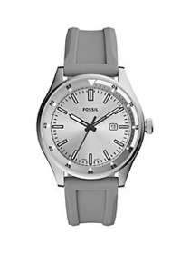 Fossil Belmar Three-Hand Gray Silicone Watch GREY