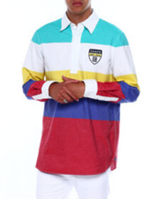 Chaps bold color stripe rugby
