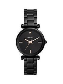Fossil Carlie Carbon Series 3-Hand Black Stainless