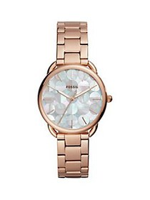 Fossil Tailor Rose Goldtone Stainless Steel Bracel