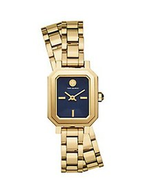 Tory Burch Robinson Stainless Steel Double-Wrap Br