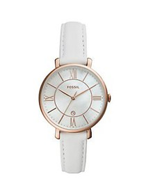 Fossil Jacqueline 3-Hand Date Stainless Steel & Le