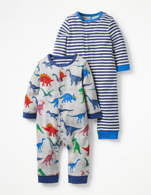 Boden Twin Pack Fun Rompers