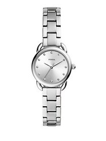 Fossil Tailor Mini Three-Hand Stainless Steel Brac