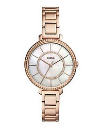 Fossil Jocelyn Three-Hand Rose-Goldtone Stainless