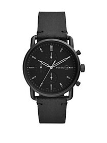Fossil Commuter Chronograph Leather Strap Watch BL
