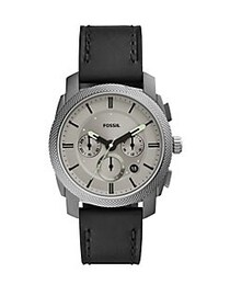 Fossil Machine Chronograph Leather Strap Watch SMO