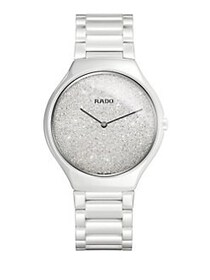 Rado True Thinline Ceramic Bracelet Watch WHITE