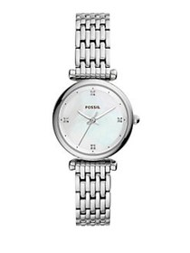 Fossil Carlie Three-Hand Stainless Steel Watch SIL