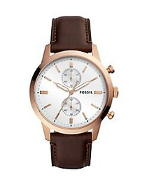 Fossil Townsman Chronograph Leather Strap Watch JA