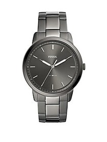 Fossil The Minimalist Three-Hand Smoke Stainless S