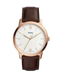 Fossil The Minimalist Three-Hand Java Leather Watc