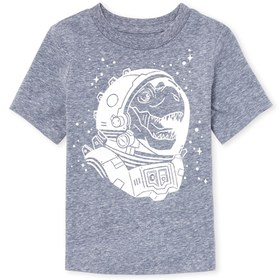 Baby And Toddler Boys Space Dino Graphic Tee