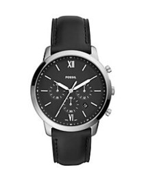 Fossil Neutra Chronograph Black Leather Watch BLAC