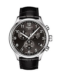 Tissot Chrono XL Stainless Steel and Leather-Strap