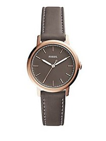 Fossil Neely Leather-Strap Watch BROWN